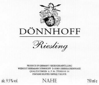 Donnhoff Estate Riesling 2019