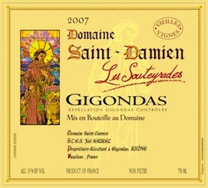 Saint Damien Gigondas Les Souteyrades 2017