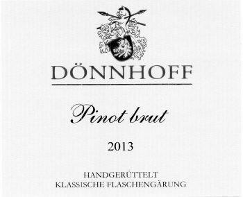 Donnhoff Pinot Brut Handgeruttelt 2014