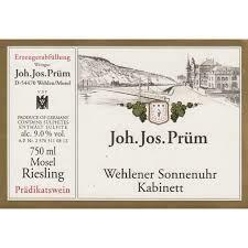 JJ Prum Wehlener Sonnenuhr Riesling Kabinett 2018