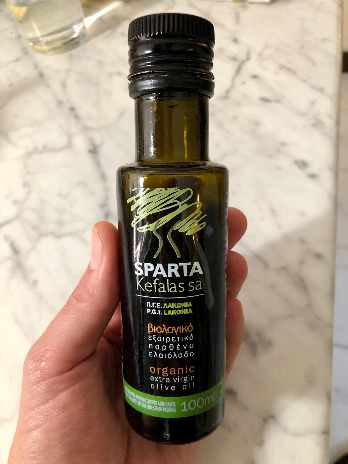 Kefalas Sparta Organic Extra Virgin Olive Oil 100ml
