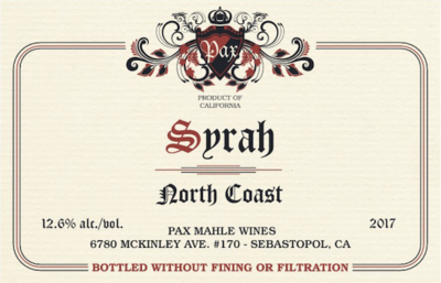 Pax North Coast Syrah 2018