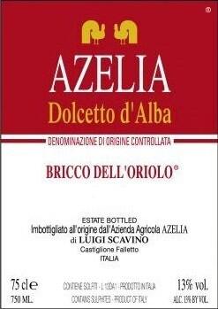 Azelia Dolcetto d'Alba Bricco dell Oriolo 2018