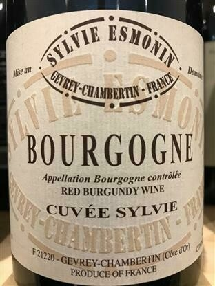 Sylvie Esmonin Bourgogne Rouge Cuvee Sylvie 2017