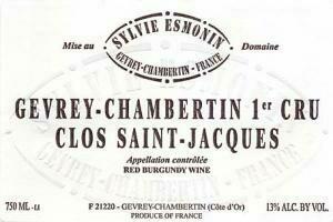 Esmonin Gevrey Chambertin Clos St. Jacques 1er Cru 2017