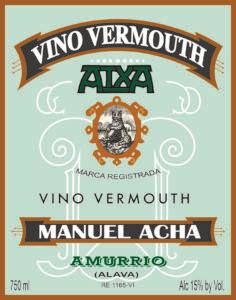 Destilerías Acha Vino Vermouth Blanco