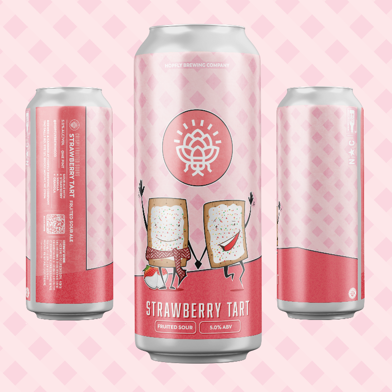 Hopfly Strawberry Tart Sour Ale