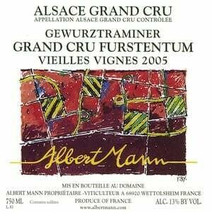 Albert Mann Gewurtztraminer Grand Cru Fürstentum VV 2017