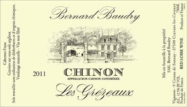 Bernard Baudry Chinon Grezeaux 2018
