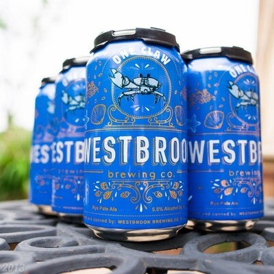Westbrook One Claw Rye Pale Ale 6 x 12oz