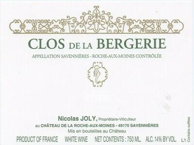Nicolas Joly Roche aux Moines Clos de la Bergerie Savennières 2017