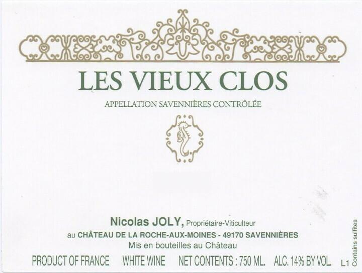 Nicolas Joly Savennières Les Vieux Clos 2017