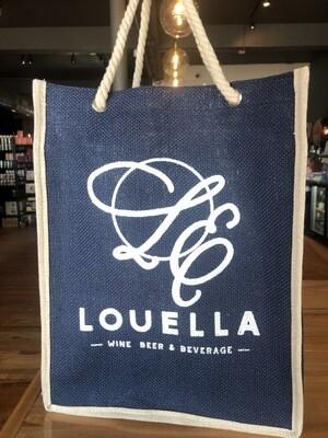 LouElla 6btl Blue Wine Tote