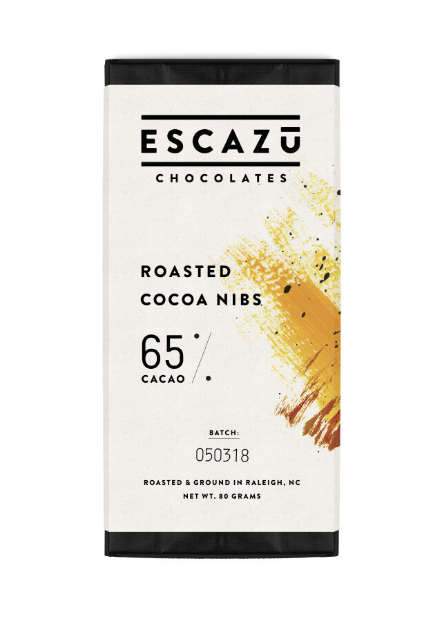 Escazu Roasted Cocoa Nibs Chocolate Bar