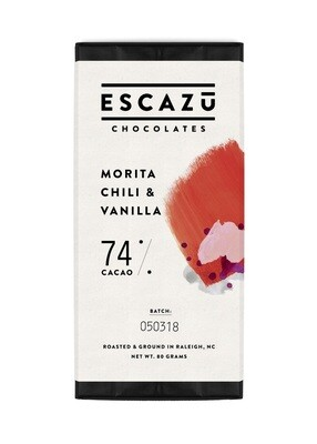 Escazu Morita Chili & Vanilla Chocolate Bar