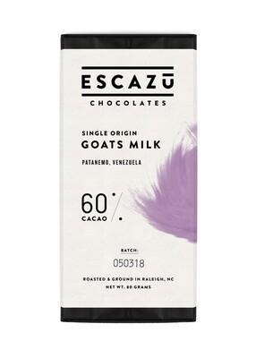 Escazu Goats Milk Single Origin Chocolate Bar