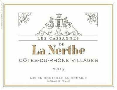 La Nerthe Les Cassagnes Cotes du Rhone Villages 2018
