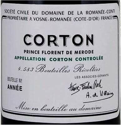 DRC Domaine de la Romanee-Conti Corton 2017