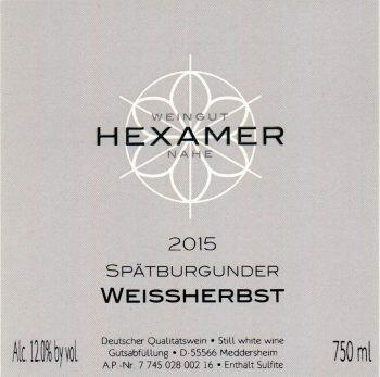 Hexamer Spatburgunder Weissherbst Halbtrocken 2018
