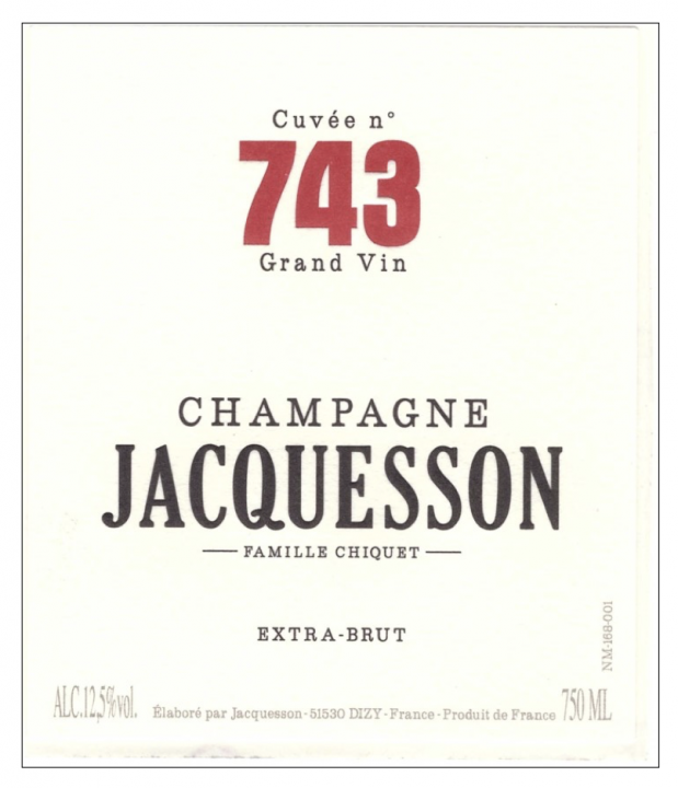 "Jacquesson ""Cuvee 743"" Extra Brut Champagne"