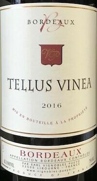 Chateau Belregard Figeac Tellus Vinea Bordeaux Rouge 2019