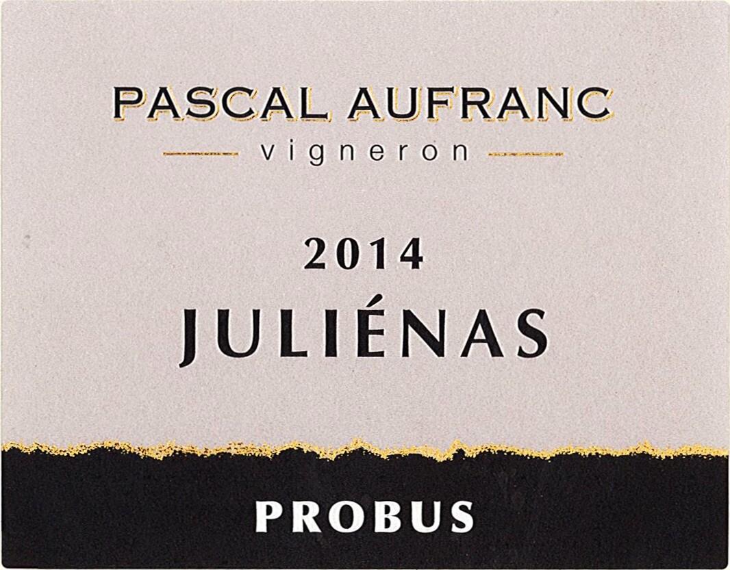 Pascal Aufranc Probus Julienas 2018