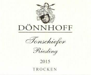Weingut Donnhoff Tonschiefer Riesling Trocken Dry Slate 2019