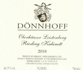 Donnhoff Oberhauser Leistenberg Riesling Kabinett 2019