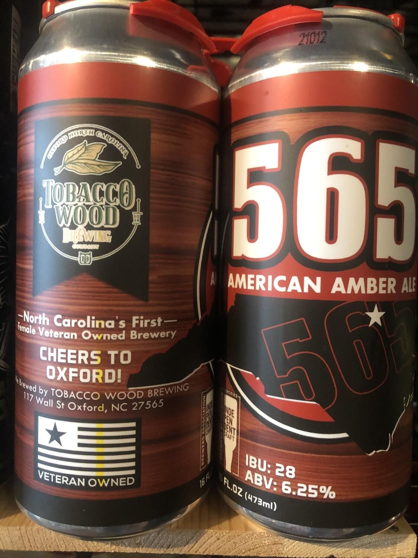 Tobacco Wood 565 Amber Ale 4pk