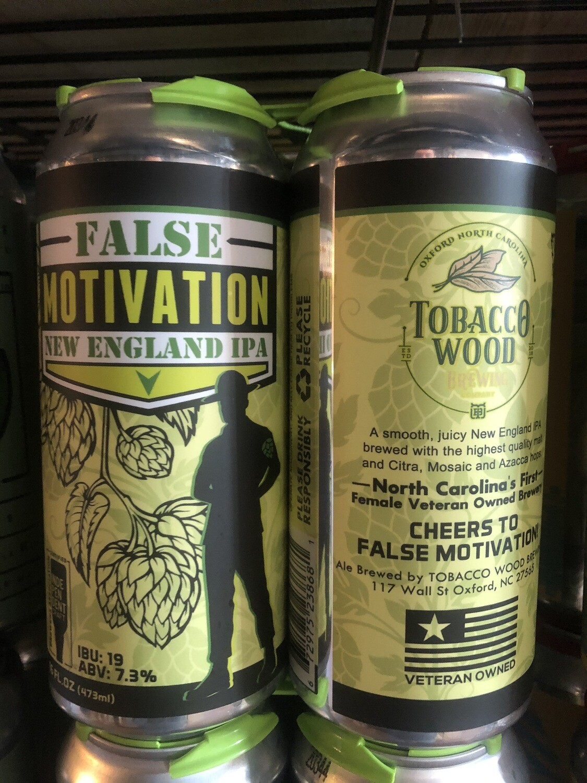 Tobacco Wood False Motivation NE IPA
