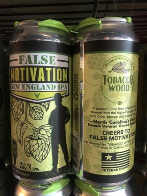 Tobacco Wood False Motivation NE IPA