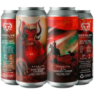 DSSOLVR Mix 4pk IPA In Pursuit of Honor & Sidetracked by Demons