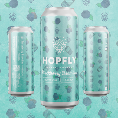 Hopfly Blackberry Brambles Fruited Sour Ale 4pk