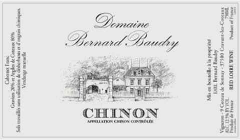 "Domaine Bernard Baudry Chinon Rouge ""Le Domaine"" 2018"