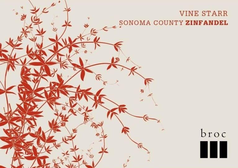 Broc Cellars Vine Starr Sonoma County Zinfandel 2018