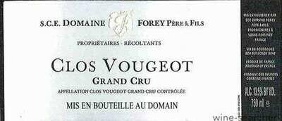 Domaine Forey Pere & Fils Clos Vougeot Grand Cru 2015