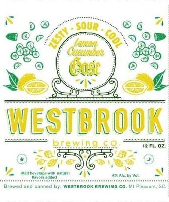 Westbrook Lemon Cucumber Gose 6pk
