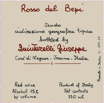 2010 Giuseppe Quintarelli Rosso del Bepi Veneto IGT