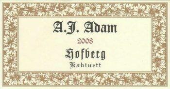 A.J. Adam Dhron Hofberg Riesling Kabinett 2019