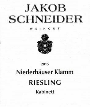 Jakob Schneider Niederhauser Klamm Riesling Kabinett 2019