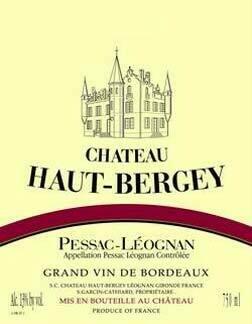 Chateau Haut Bergey 2005 Pessac-Leognan