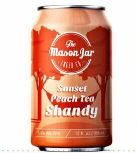 Mason Jar Sunset Peach Tea Shandy