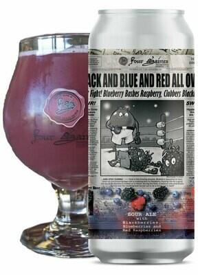 Four Saints Black & Blue & Red All Over Sour Ale 4pk