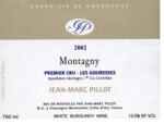 """Domaine Jean-Marc Pillot 2016 """"Les Gouresses"""" Montagny"""