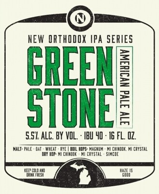 Old Nation Green Stone Pale Ale 4pk