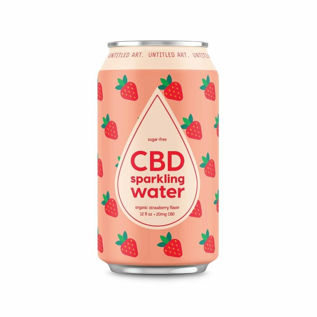 Untitled Art - Strawberry CBD Sparkling Water