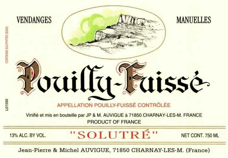 Vins Auvigue 2018 Solutré Pouilly-Fuissé