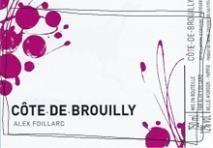 Alex Foillard Cote de Brouilly 2019