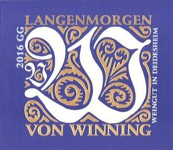 Von Winning 2019 Langenmorgen Riesling Grosses Gewächs