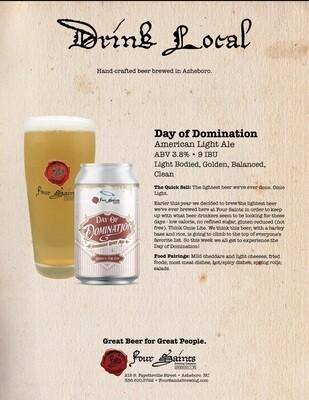 Four Saints Day of Domination Light Ale 6pk